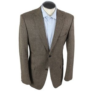 HUGO BOSS silk wool nails head pattern blazer 40R